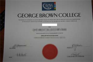The GEORGE BROWN COLLEGE degree sample.(乔治布朗大学文凭样本)