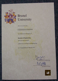 Brunel University degree sample, Sales the fake Brunel University degree online.