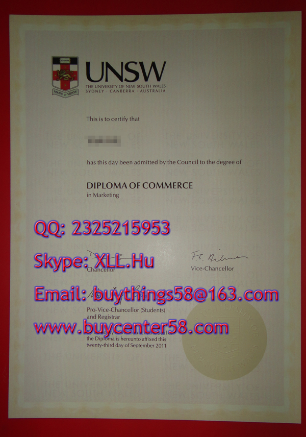 UNSW certificate