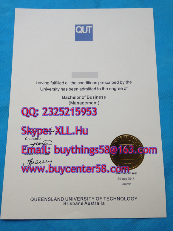 Buy fake degree. Fake QUT degree sample.