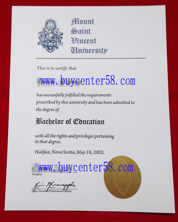 buy Mount Saint Vincent University diploma