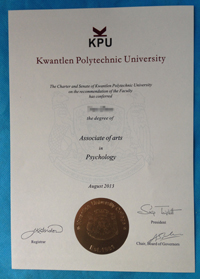Buy Associate of arts degree, buy Kwantlen Polytechnic University(KPU) diploma.